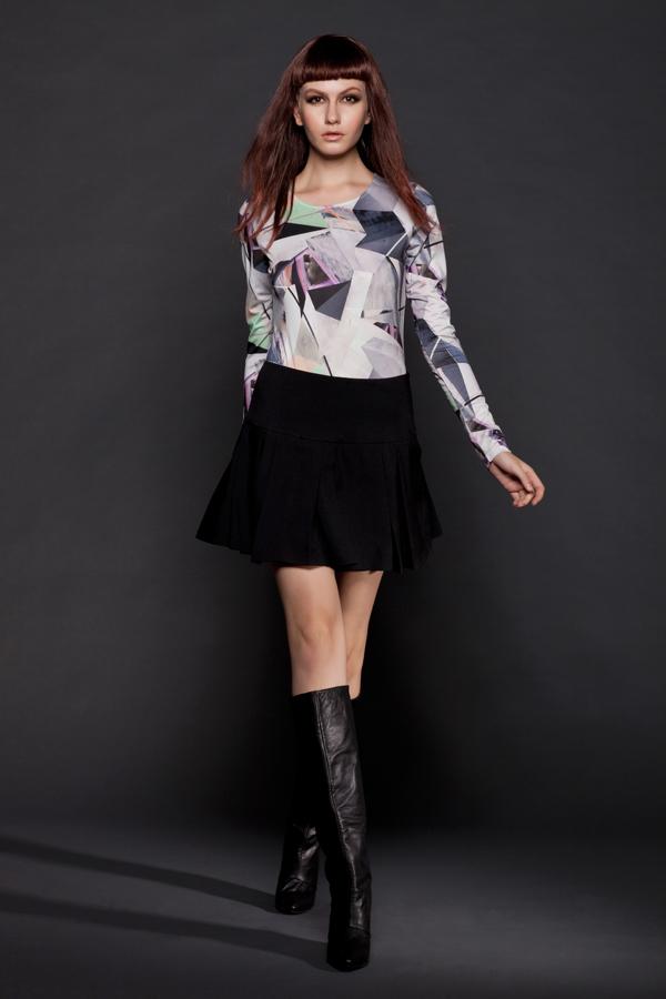 crystal print dress