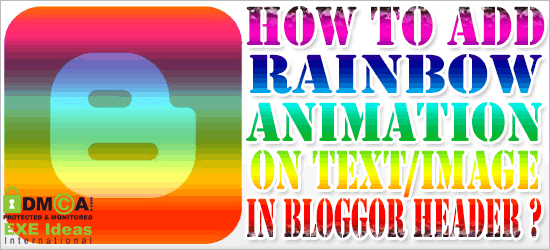 How To Add Rainbow Animation Into Header Logo Or Text?