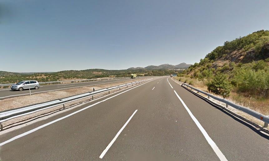 tramo de autovia a66 afectado por las obras