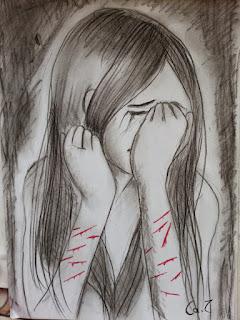 Autoagression Zeichnung