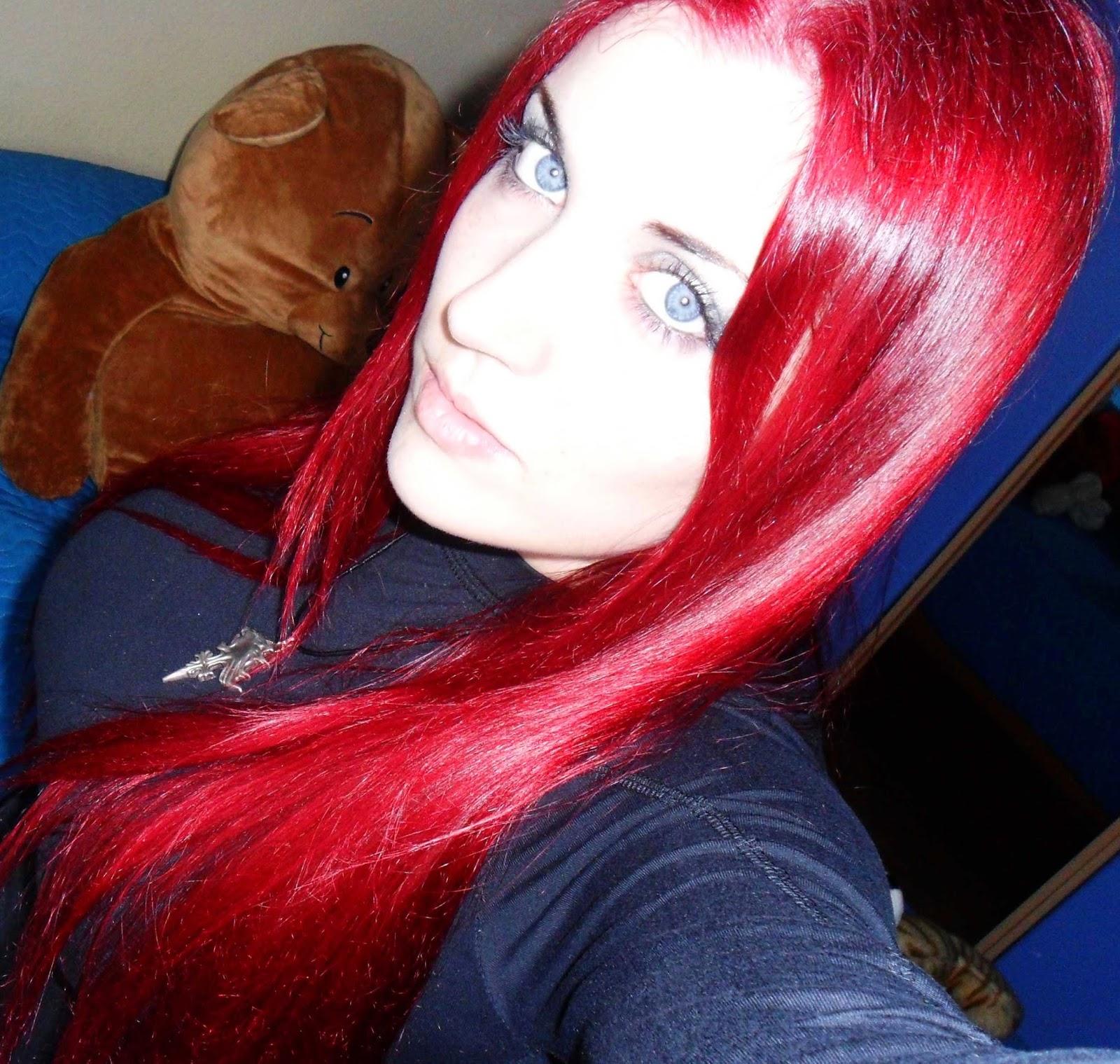 pelo rojo fuego