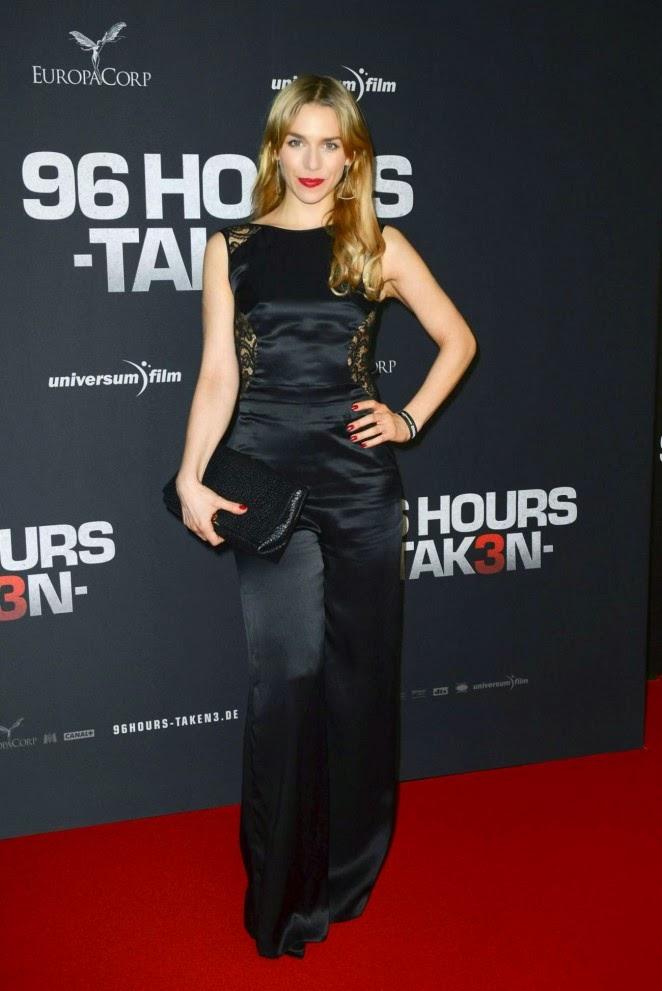 Julia Dietze in a black jumpsuit at the 'Taken 3' Berlin premiere