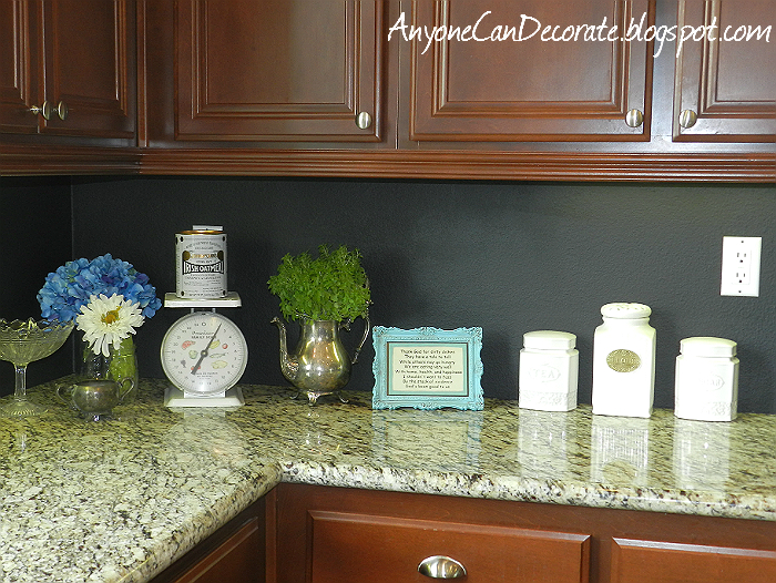 My $10 Kitchen Back Splash Chalkboard