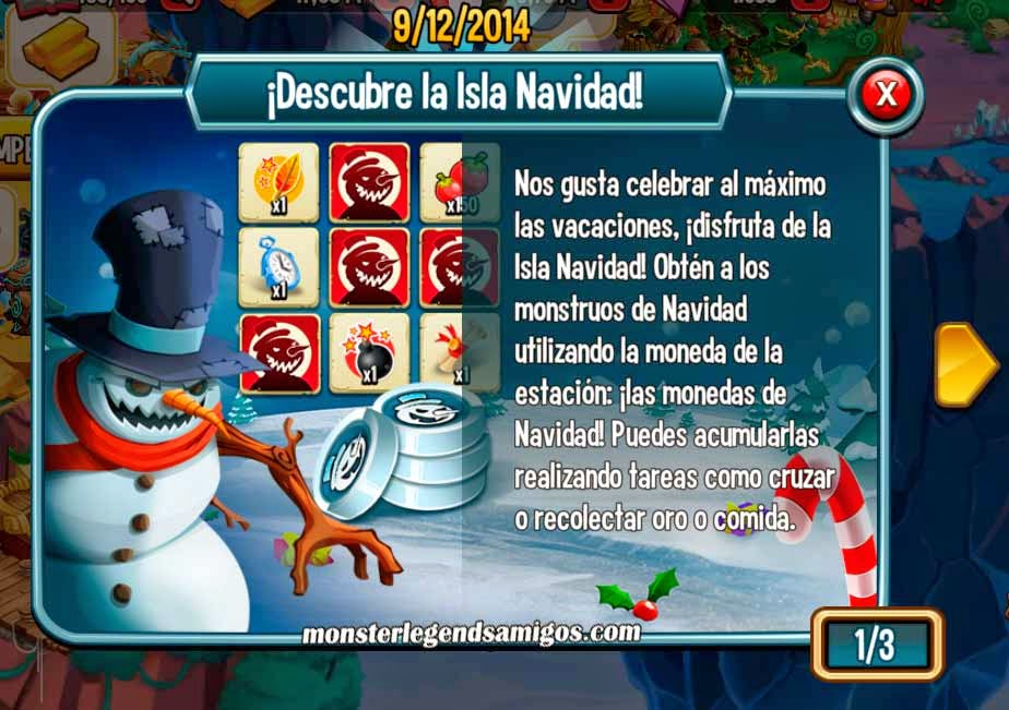 imagen de descubre la isla de navidad de monster legends