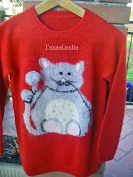 Un bel gattone sul maglione!