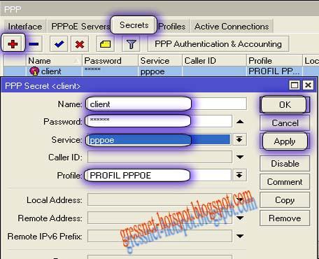 cara setting pppoe di mikrotik
