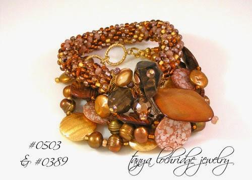 Brown-Black Mother-of-Pearl, Pearl & Gold Vermeil Bracelet