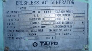 Used Marine Diesel Generator Yanmar 6HAL 2TN