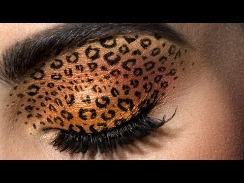 leopard eye makeup design