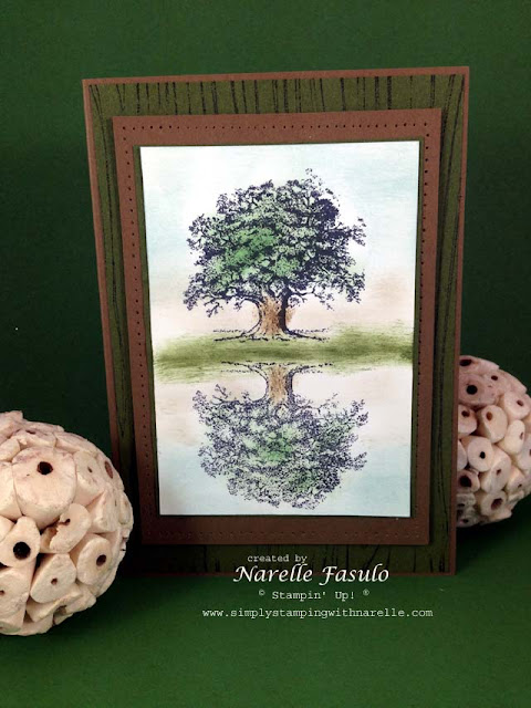 Narelle Fasulo - Independent Stampin' Up! Demonstrator - Lovely As A Tree - Reflection Technique