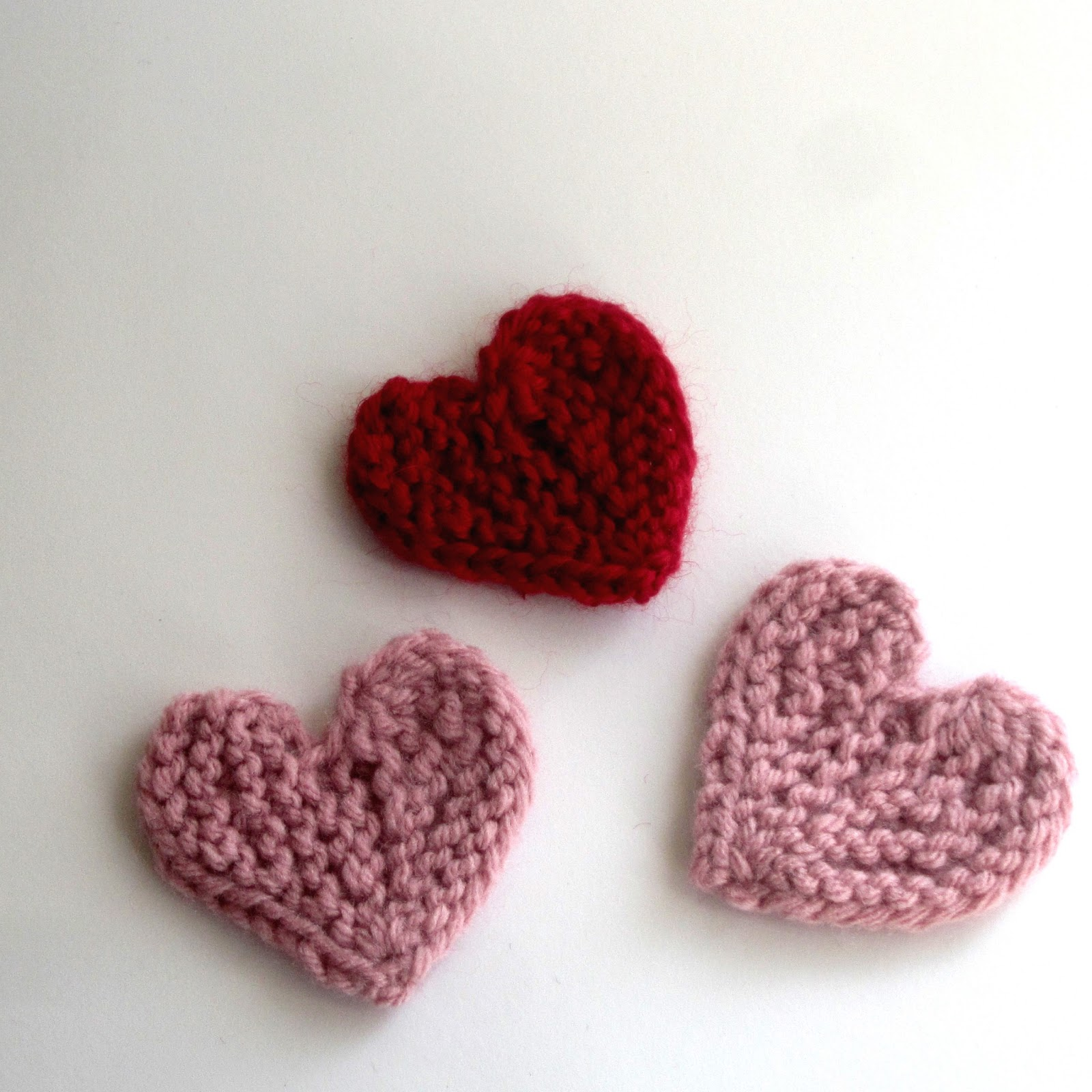 Lace and Cable: Knitted Short-row Hearts