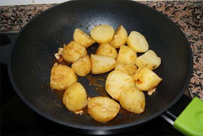 Crema de patatas al pimentón paso 3