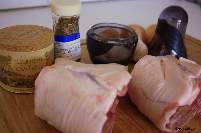 Le blog de clementine jarret de porc brais au cumin ail - Cuisiner un jarret de porc ...