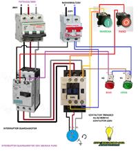 interruptor guardamotor marcha paro trifasico