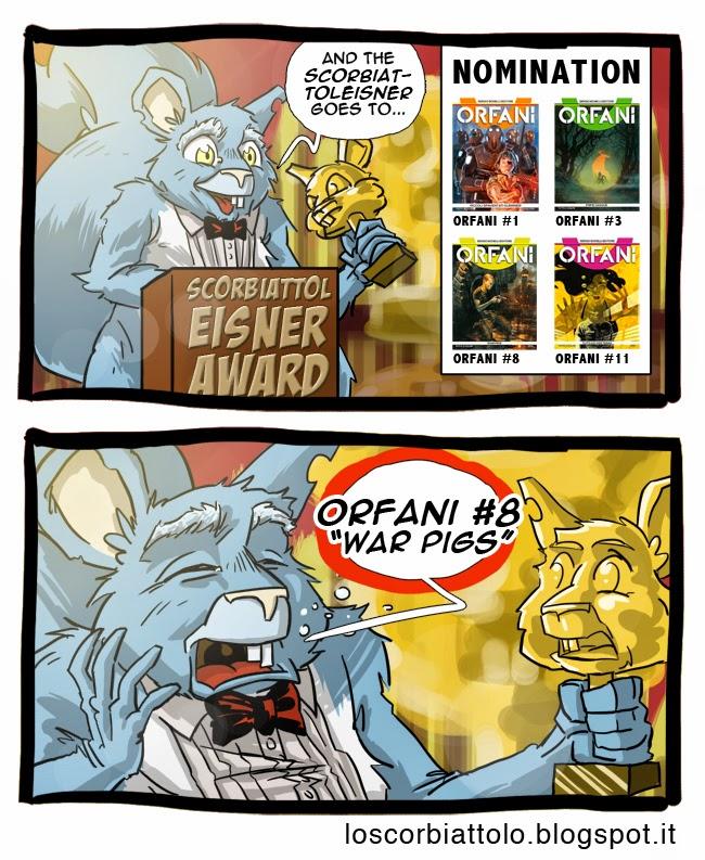 scorbiattolo eisner award premio orfani miglior numero war pigs gianfelice