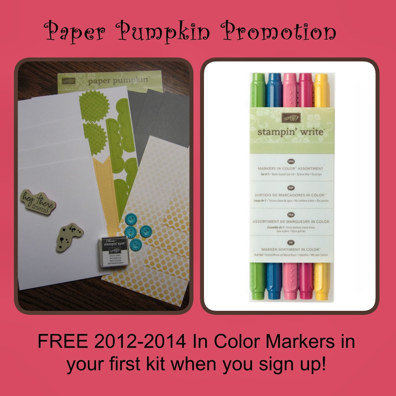 Join Paper Pumpkin by March 31, 2013 ~ Receive a FREE set of Markers