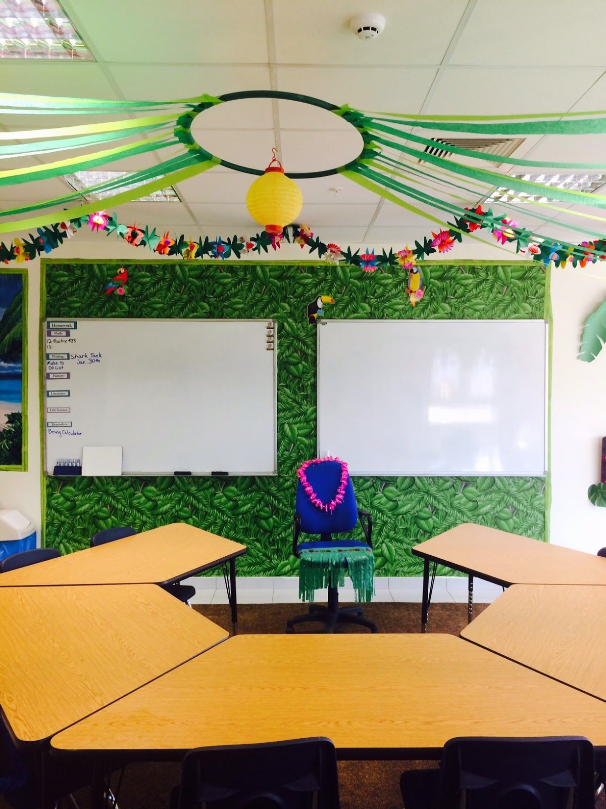 Classroom Ceiling Decoration : The charming classroom island jungle theme
