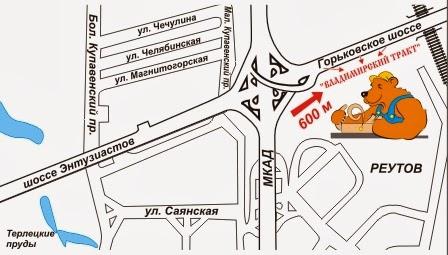 Как добраться на машине до рынка «Владимирский тракт»
