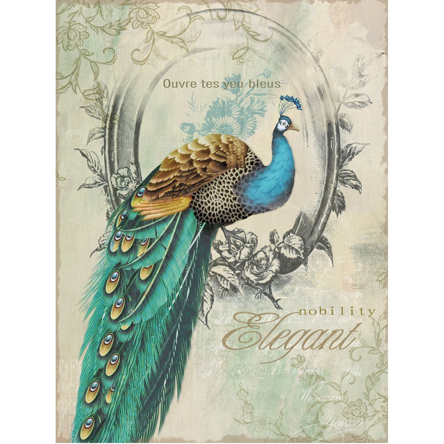 Peacock themed peacock colored comforter and bedding sets for Peacock wall art