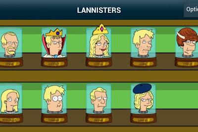 Lannister cabezas futurama - Juego de Tronos en los siete reinos