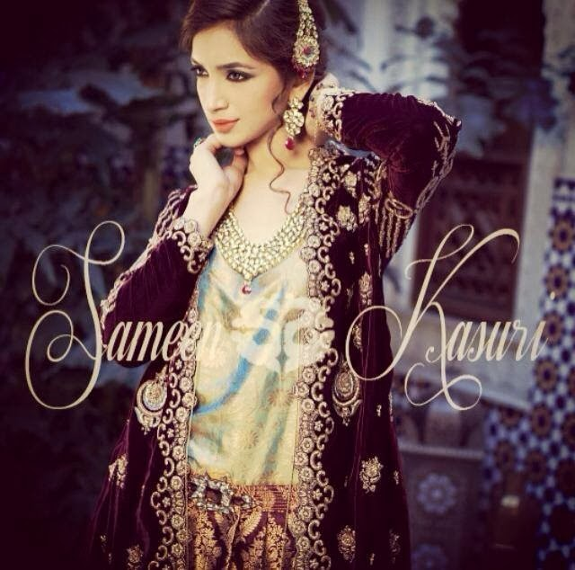 SameenKasuriSemiFormalCollection2014 15 wwwfashionhuntworldblogspotcom 008 - Formal & Semi Formal Wear Dresses By Smeen Kasuri