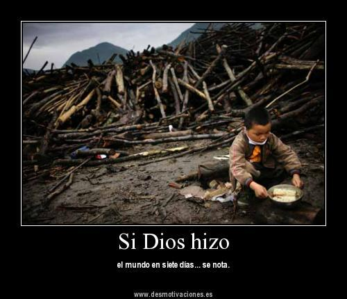 Dios Constructor Desmotivaciones