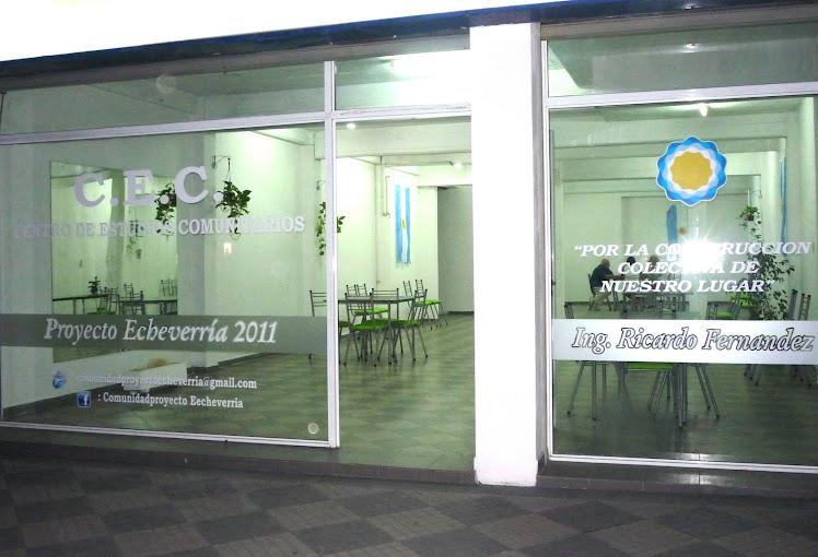 ...y en un lugar que es de todos, realizamos el: Proyecto Echeverría 2011