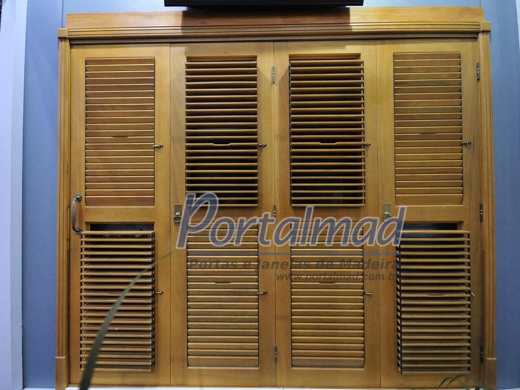 #274DA4 Portas e Janelas soluções completas em esquadrias de madeira  1252 Portas E Janelas Em Madeira De Lei
