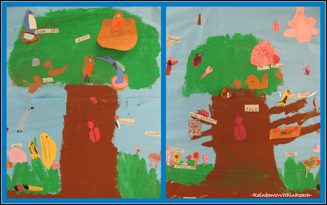 photo of: Fall Cooperative Tree Murals (Fall RoundUP via RainbowsWithinReach)
