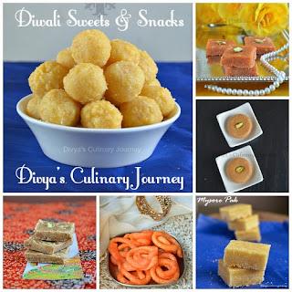 diwali sweets & diwali snacks recipes. (deepavali special)