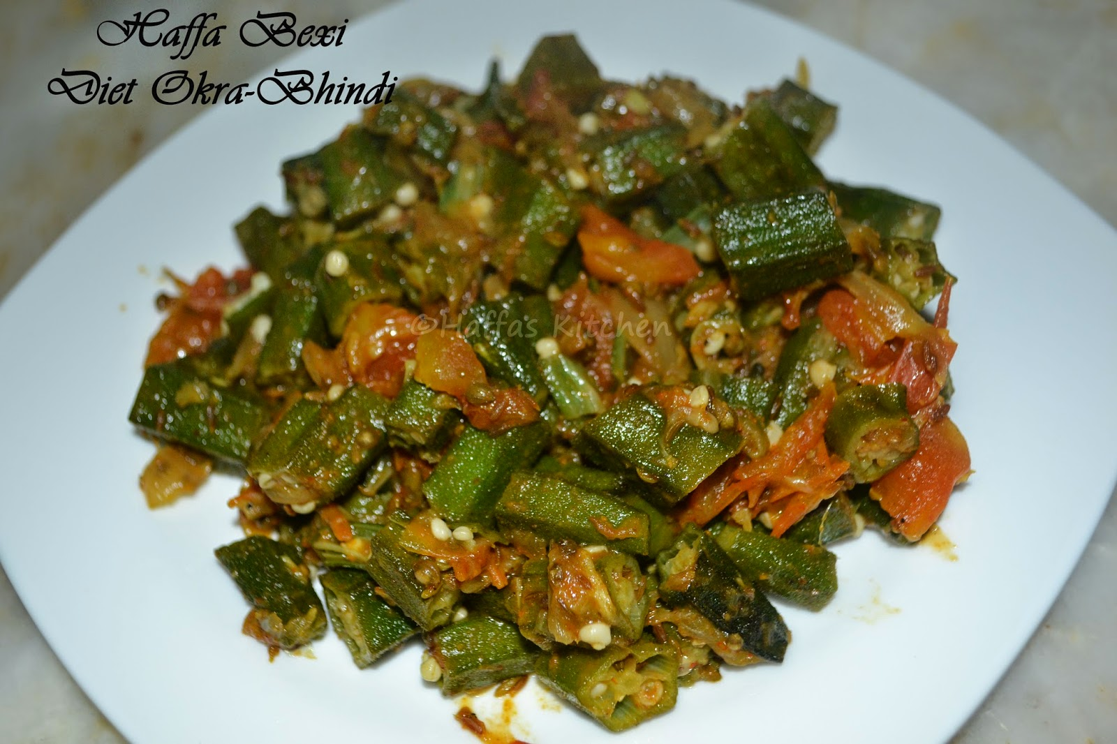 Diet okra bhindi haffas kitchen adventures diet okra diet recipes recipes without oil healthy okra recipes low carb forumfinder Image collections