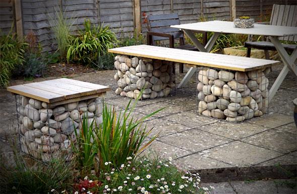 Outdoor Garden Benches Stone