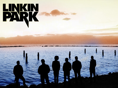 Linkin Park Logo and Band Members Seaside HD Wallpaper