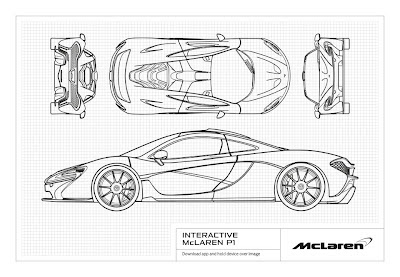 McLaren P1 Augmented Reality Picture