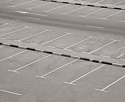 Image of empty parking lots all set for exercising