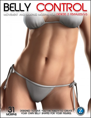 3d Models - Belly Control Bundle and Belly Control For Genesis 2 Female(s) and V6