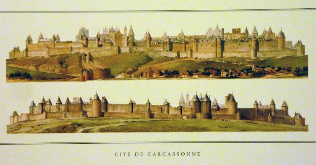Carcassonne tras la restauraciónd e Violet-le-Duc