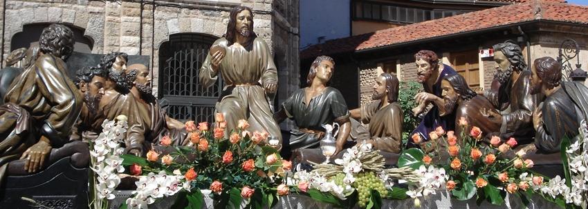 Paso de la Sagrada Cena. Cofradía de Santa Marta y de la Sagrada Cena. Foto G. Márquez