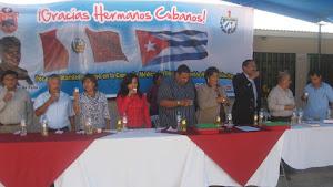 ACTO DE DESPEDIDA DE LA BRIGADA DE MEDICOS CUBANOS EN EL PERÚ