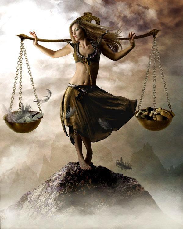 La fuera del equilibrio de la mujer, Zodiaco de Libra