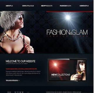 Fashion and Glam - Flash Site Template