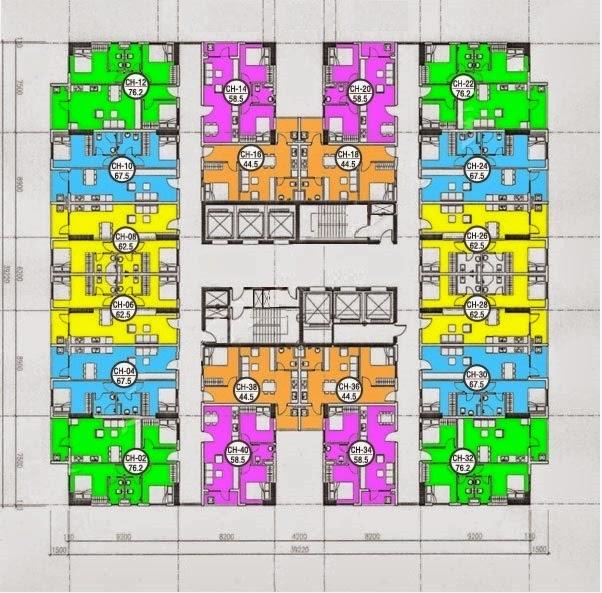 Mặt bằng thiết kế căn hộ HH3 Linh Đàm