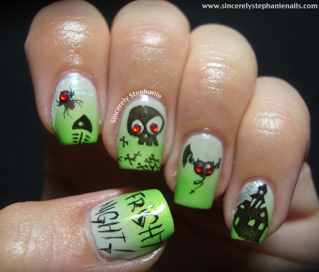 bundle monster fright night halloween nails