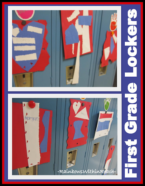photo of: First Grade Patriotic 'Quilts' in honor of 9-11 (Artist in Residence Visit)