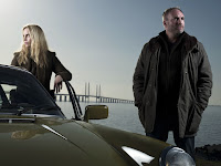 Sofia Helin as Saga Norén, Kim Bodnia as Martin Rohde in The Bridge