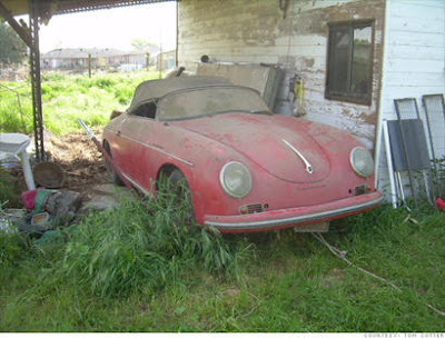 Rusty cars 1958 Porsche Speedster have nice prices