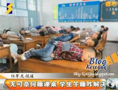 budak sekolah tidur