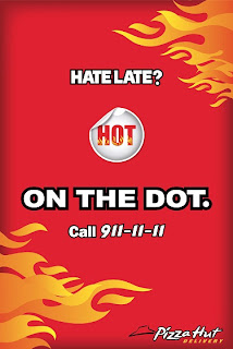 pizza hot on the dot poster