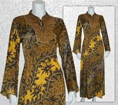 Model baju batik gamis keren