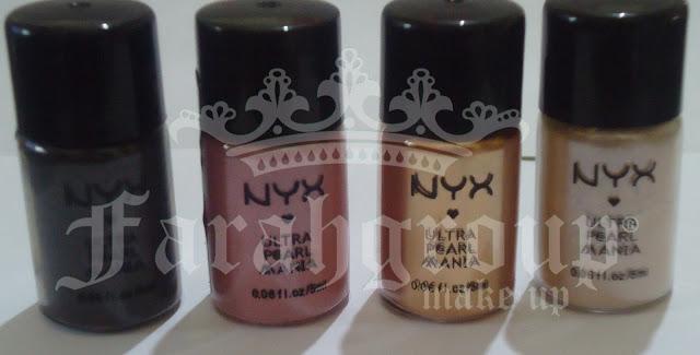 NYX cosméticos, pigmentos de maquillaje, productos nyx